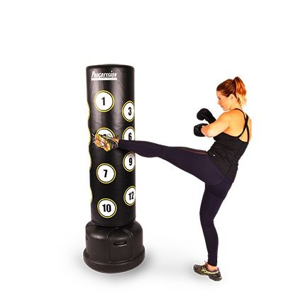 Progression Free Standing Boxing Trainer Black Upright