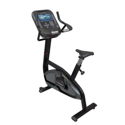 Star Trac 4 Series Upright bike with 10 inch screen